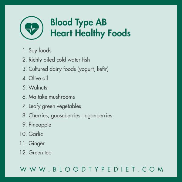 Nhóm máu AB nên ăn gì