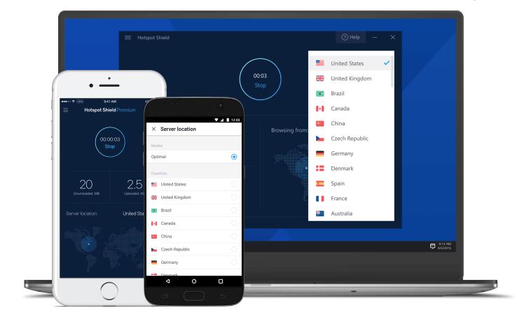 VPN miễn phí tốt nhất cho fire stick - Hotspot Shield