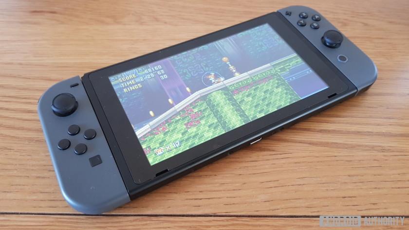 Nintendo Switch với Sonic Mania được tải - một trong những bảng điều khiển cầm tay tốt nhất