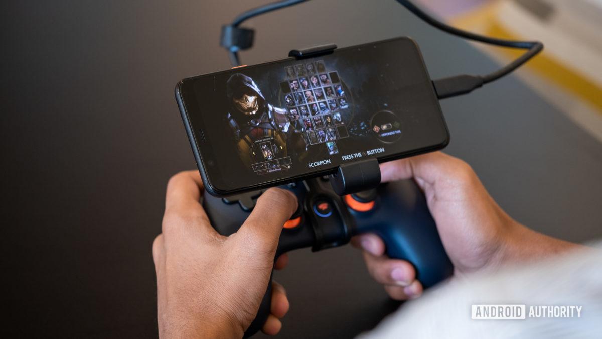 Google Stadia chơi trên điện thoại 1