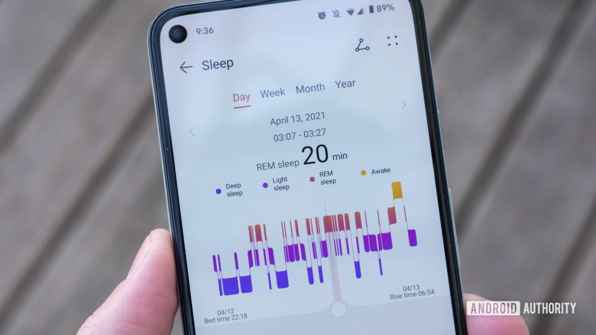 Huawei Band 6 đánh giá dữ liệu giấc ngủ của ứng dụng sức khỏe huawei