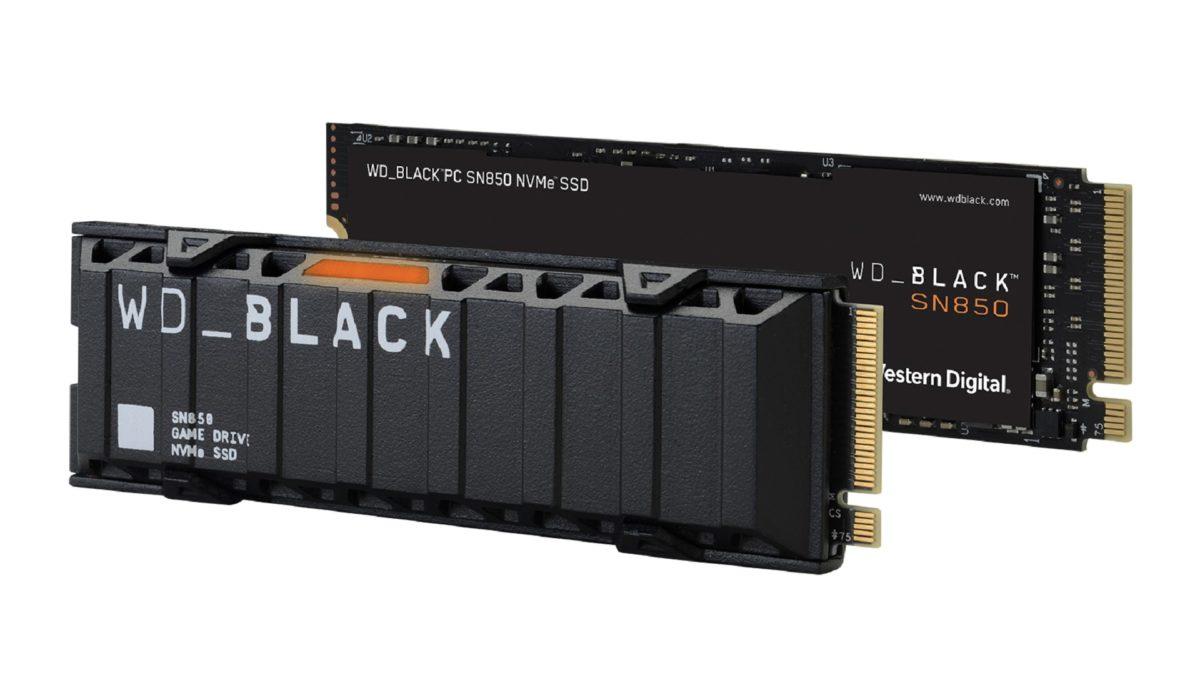 WD Black SN850 SSD trên nền trắng