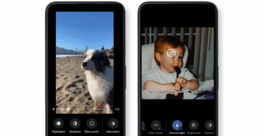 Two examples of the new Google Photos video editor.