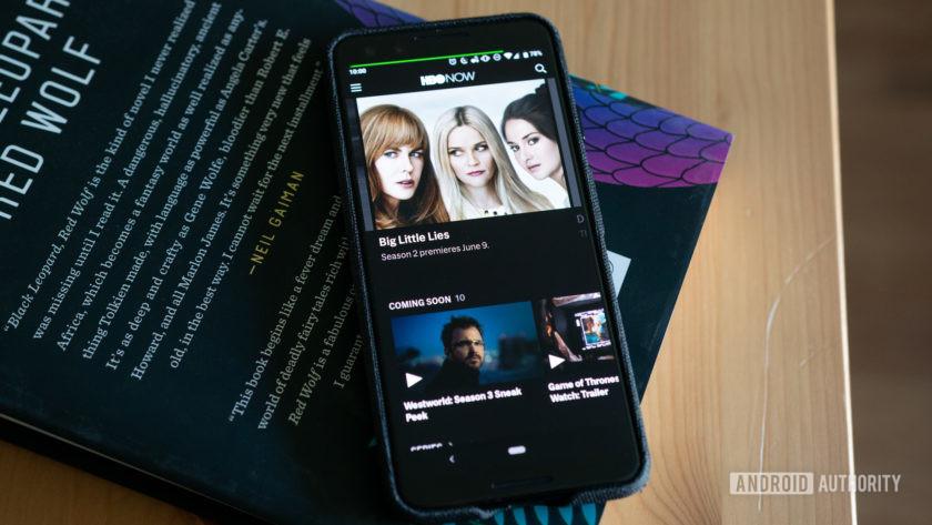 HBO Hiện đang chạy trên màn hình Pixel 3 OLED trên bàn làm việc.