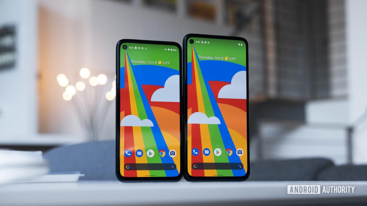 So sánh kích thước màn hình Google Pixel 4a 5G và ưu đãi Pixel 4a của Verizon