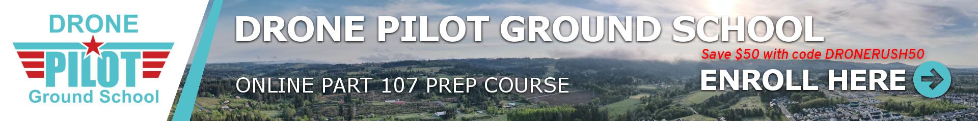 Trường dạy phi công Drone trên mặt đất 1920x238 biểu ngữ