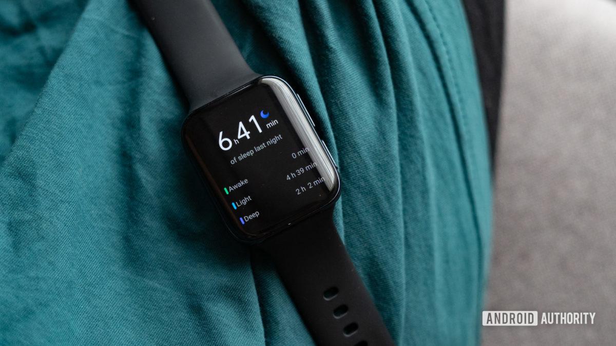 Đồng hồ Oppo hiển thị dữ liệu chế độ ngủ