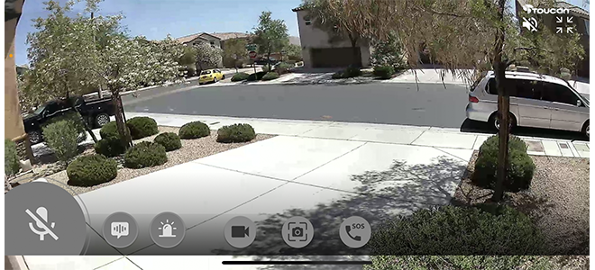 Chế độ ngang ứng dụng camera an ninh