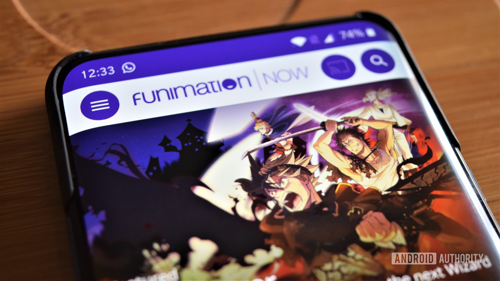 Ứng dụng android Funimation