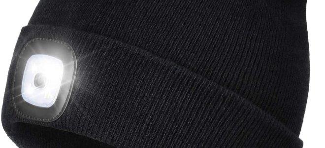 mũ beanie đen có ánh sáng