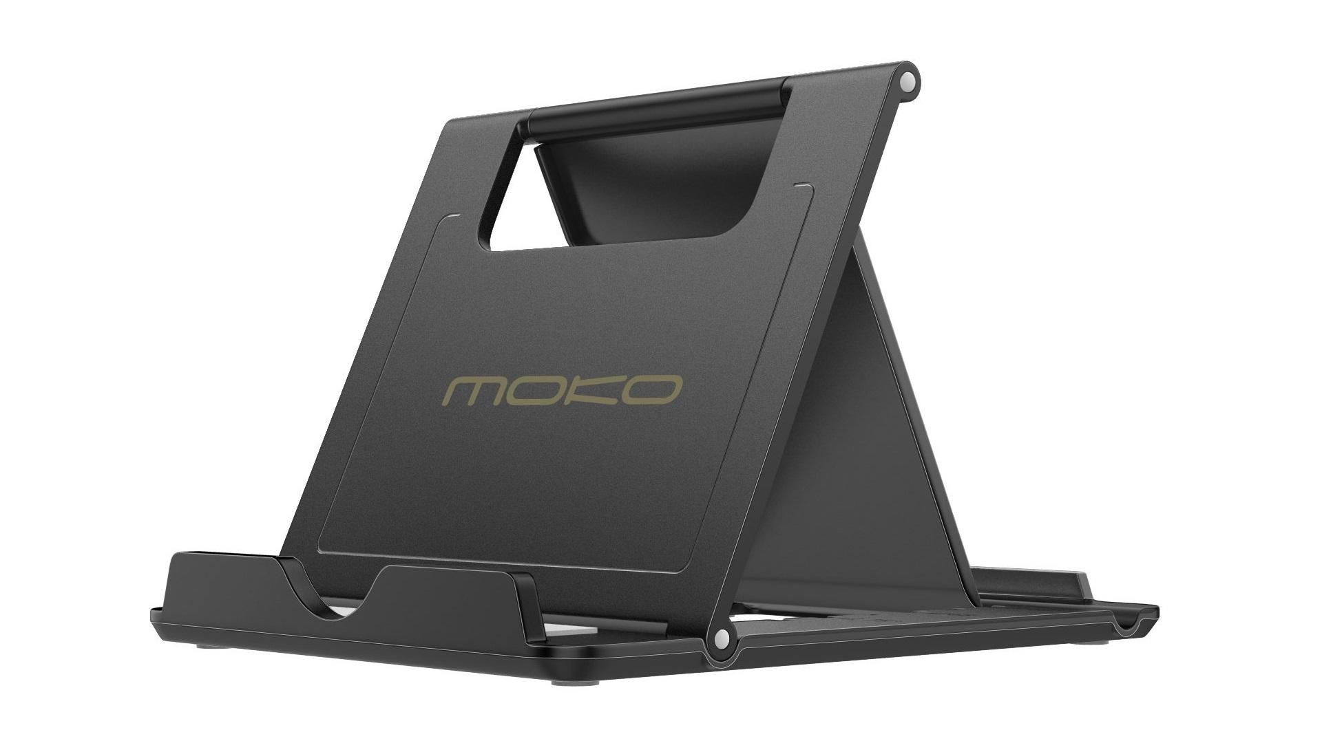 MoKo Chân đế iPad nhiều góc có thể gập lại trên nền trắng