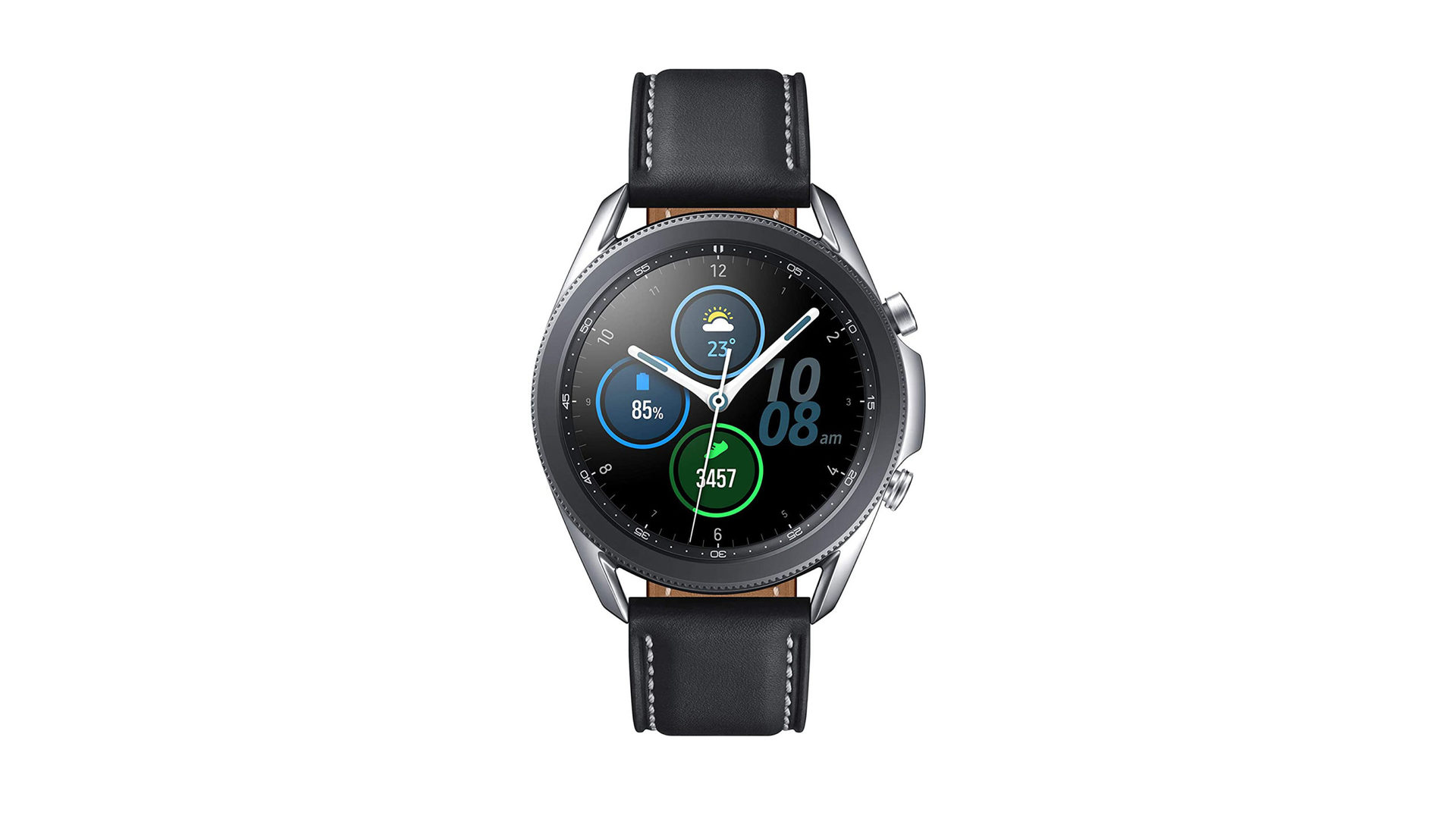 đồng hồ samsung galaxy 3 dây da đen