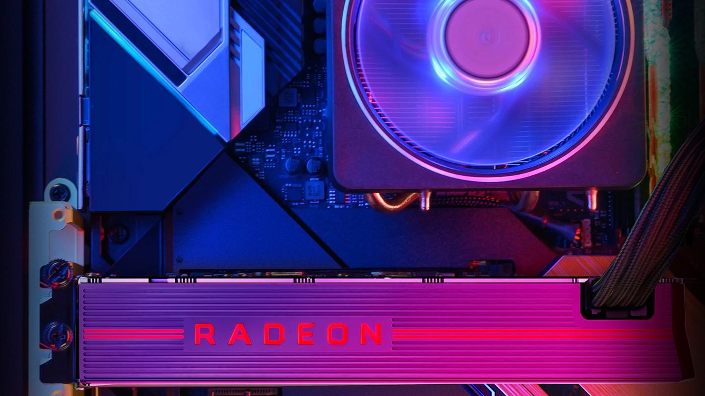 GPU AMD Radeon RX 5000 series được cài đặt trên bo mạch chủ