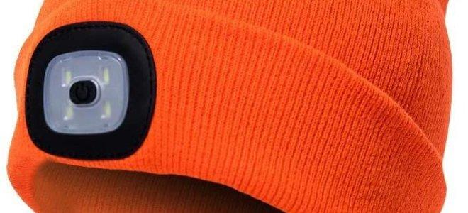 mũ màu cam có ánh sáng