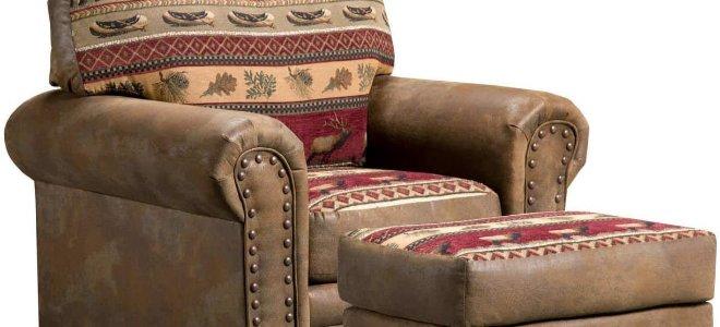 ghế bành màu nâu ấm cúng