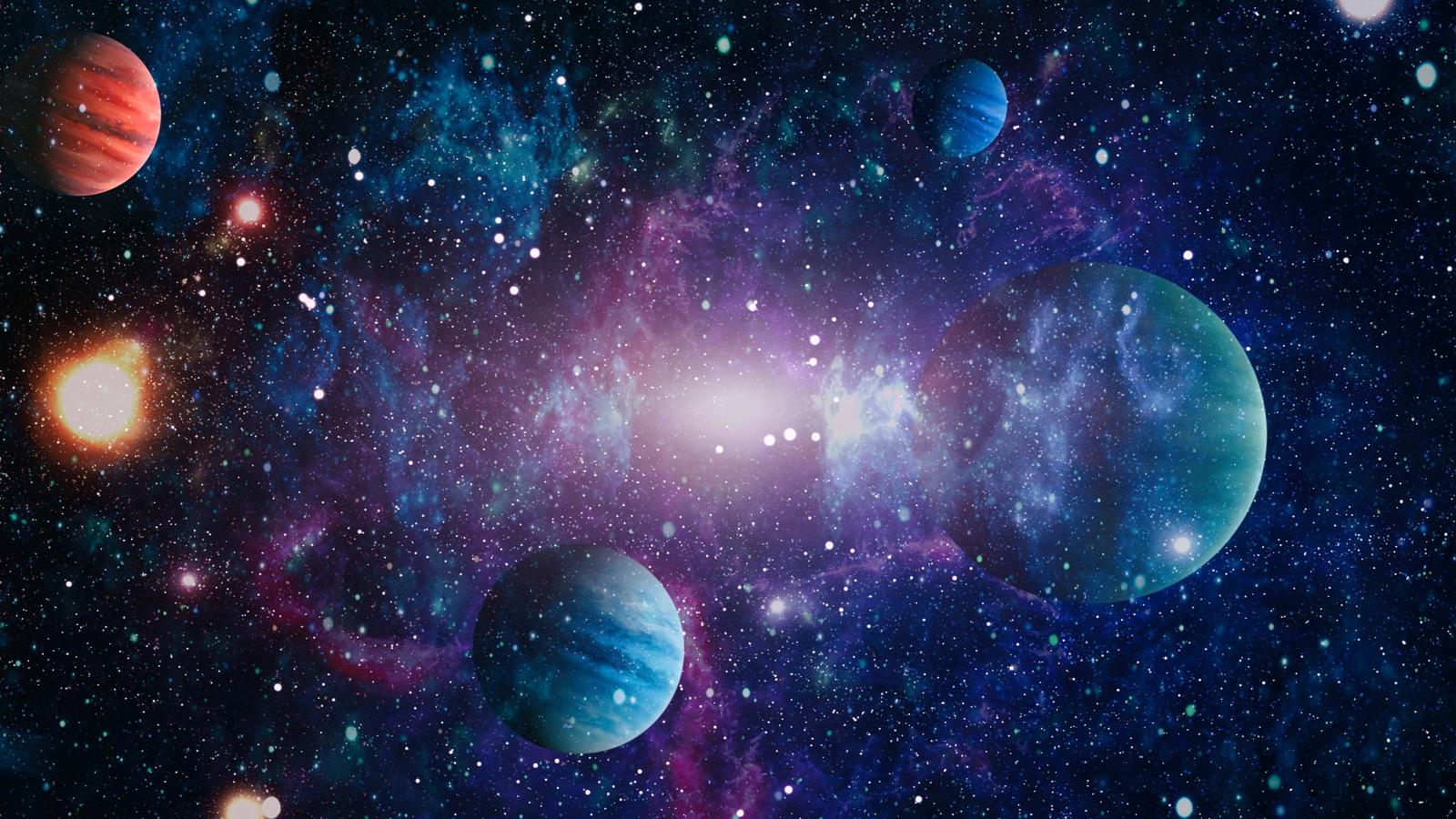Các hành tinh, ngôi sao và thiên hà trong không gian bên ngoài thể hiện vẻ đẹp của việc khám phá không gian