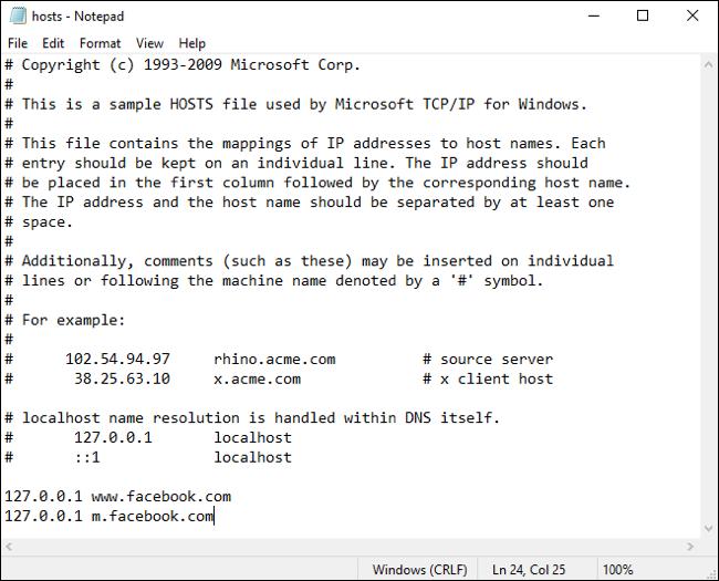 Chỉnh sửa tệp máy chủ trong Windows 10