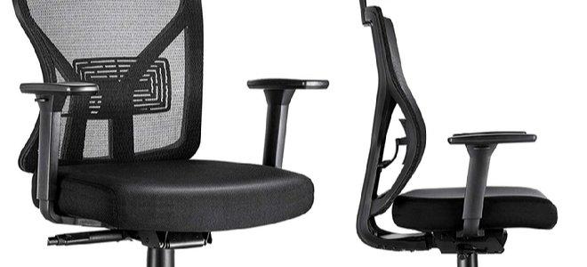 ghế văn phòng làm việc từ hai góc độ