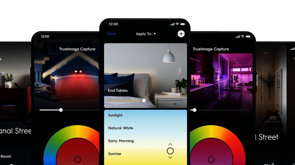 Một loạt hình ảnh của ứng dụng Cync mới