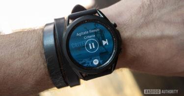 samsung galaxy watch 3 review on wrist spotify music app