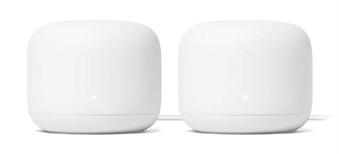 Các điểm tổ hợp wifi Google màu trắng cong