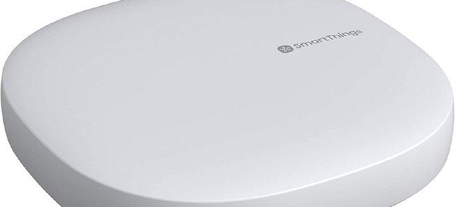 thiết bị thông minh Samsung hình vuông màu trắng