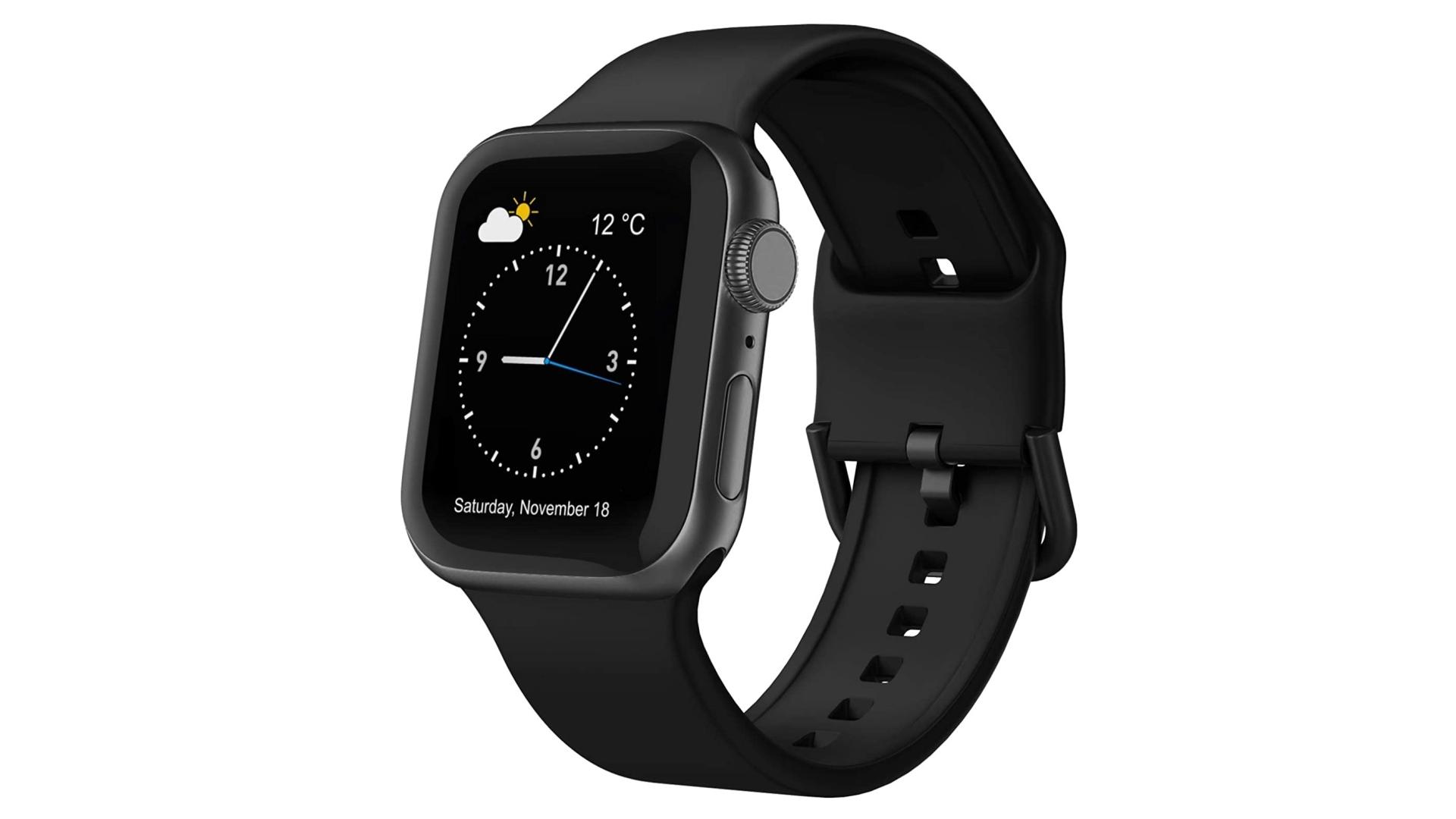dây đeo đồng hồ quả táo bằng silicon mềm adepoy