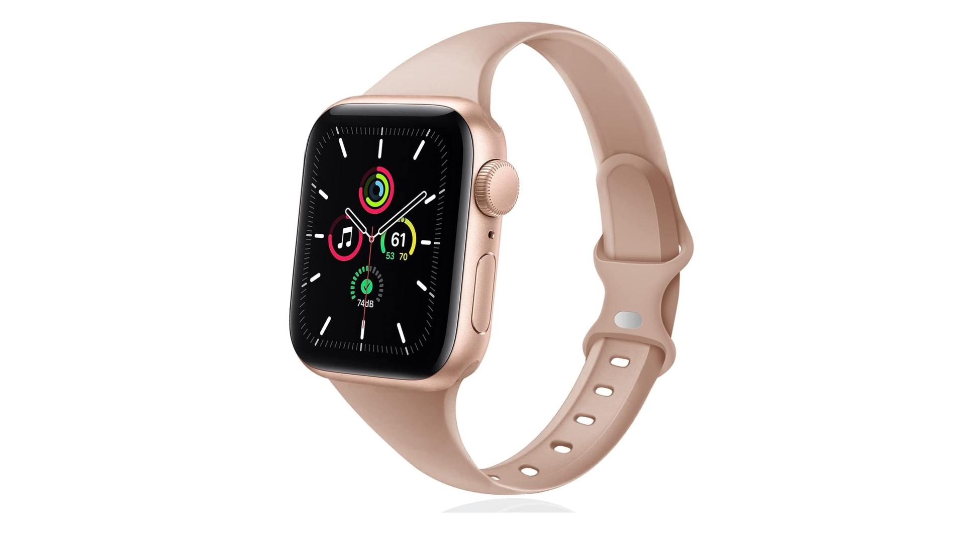 dây đeo đồng hồ apple watch dây silicon mỏng thể thao đêiss