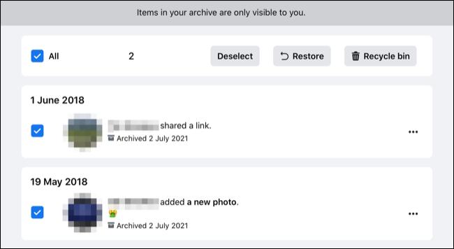 Khôi phục Lưu trữ Bài đăng trên Facebook.com