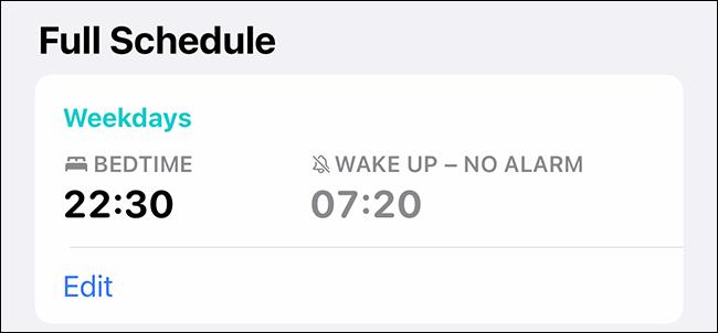 Lịch ngủ của Apple Health