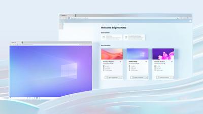 Bản kết xuất Windows 365 đang hoạt động.