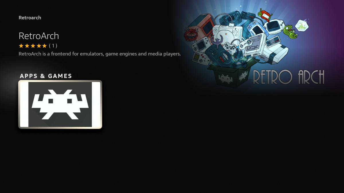 Tải xuống RetroArch trong màn hình Amazon Appstore